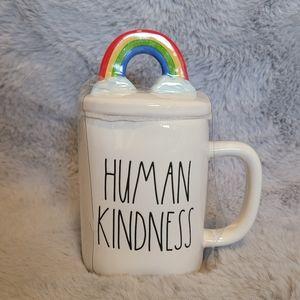 """Rae Dunn Mug with Lid """"HUMAN KINDNESS"""" 🌈"""